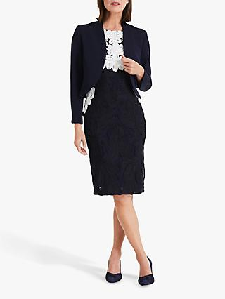 Phase Eight Caroline Peplum Jacket, Navy