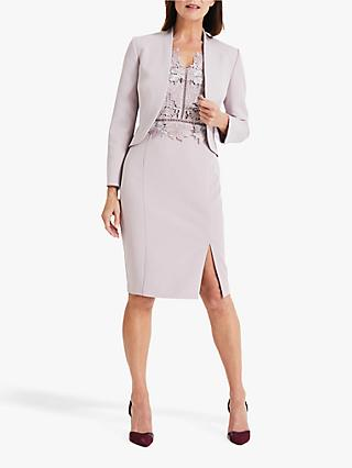 Phase Eight Caroline Peplum Jacket, Misty Mauve