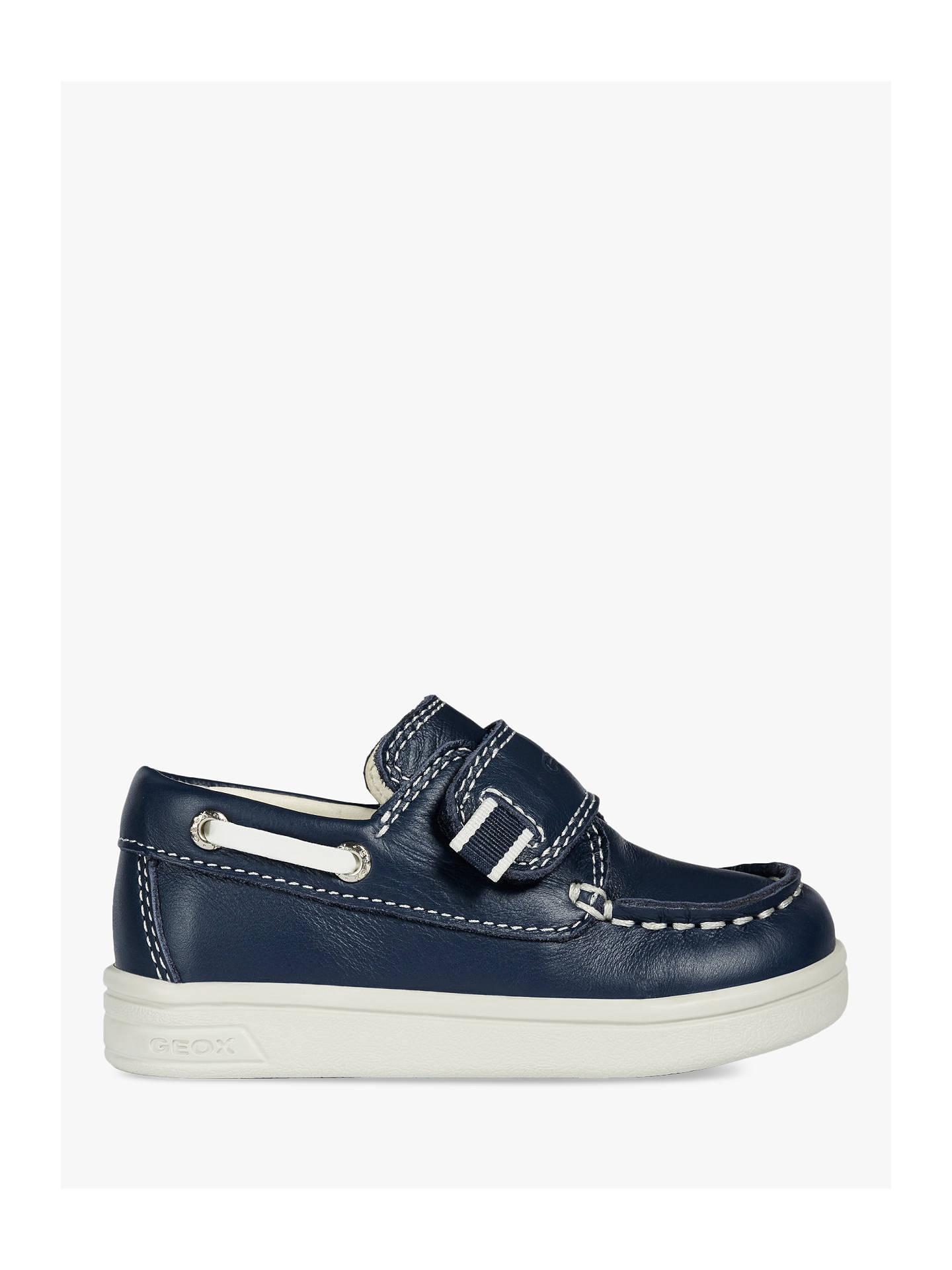 312bbe4c969 Buy Geox Children's DJ Rock Boat Shoes, Navy, 21 Online at johnlewis. ...