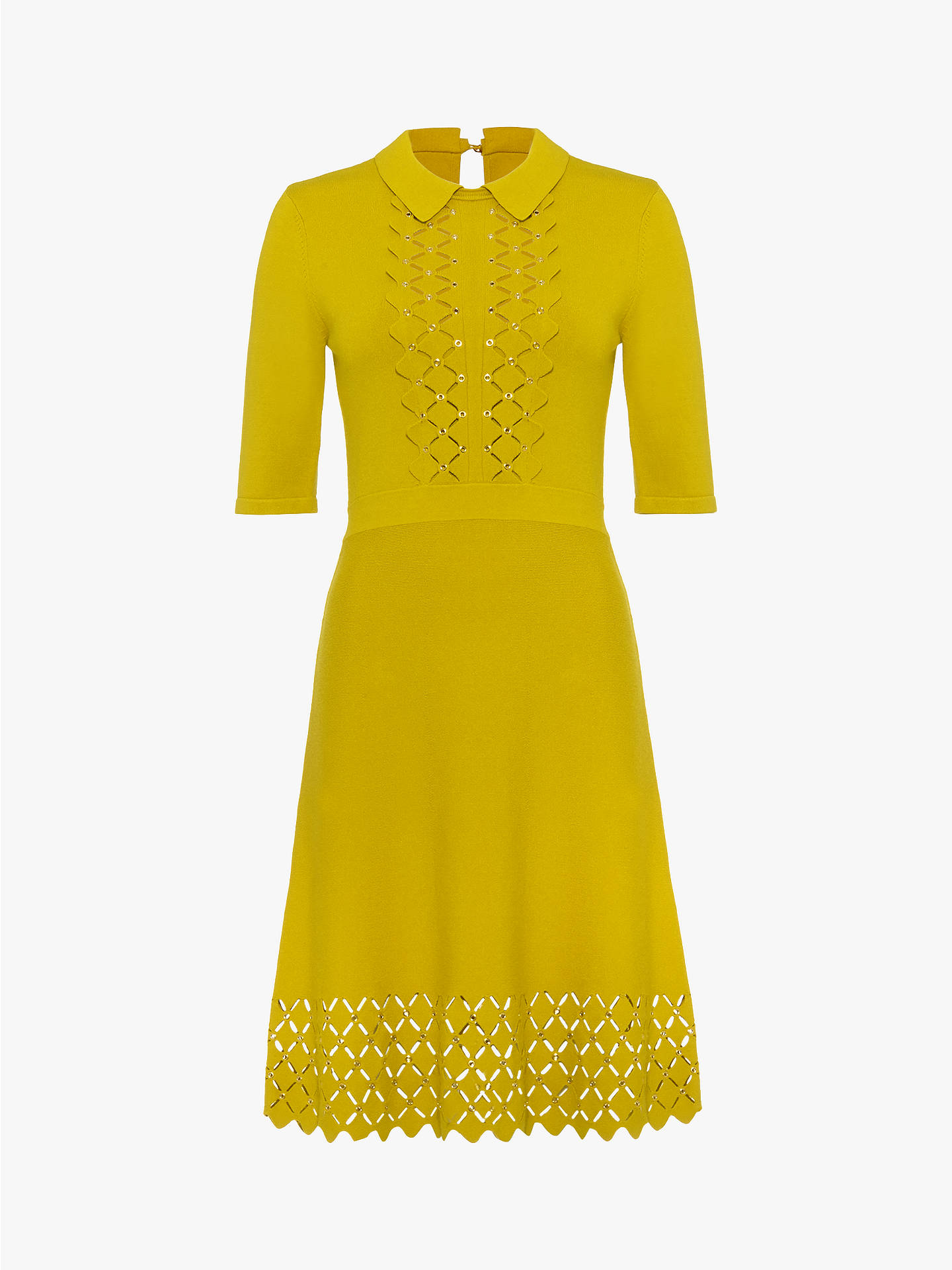 07ace8146cdf4 Damsel in a Dress Liona Diamond Stitch Dress, Mustard