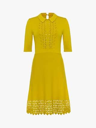 Damsel in a Dress Liona Diamond Stitch Dress, Mustard