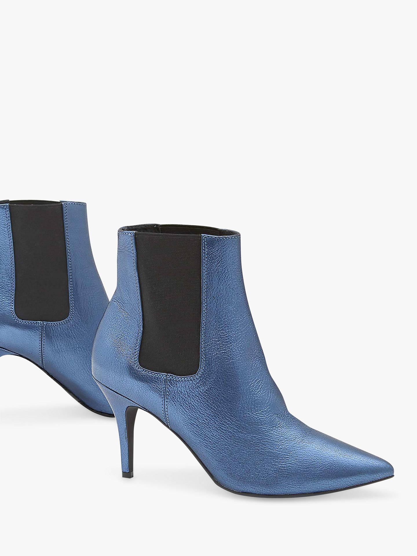1dd735d92ef Mint Velvet Zara Metallic Leather Stiletto Heel Ankle Boots at John ...