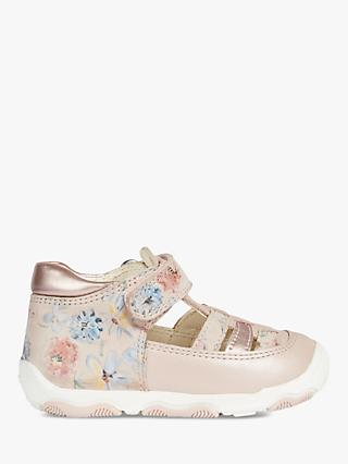 Geox Children's New Balu G.A Riptape Shoes, Light Rose