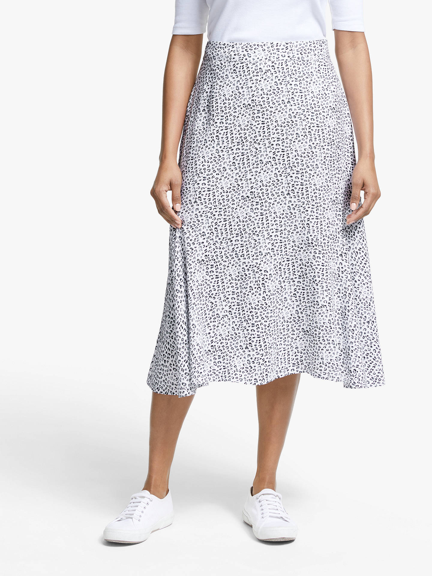145a2fce1 Buy Collection WEEKEND by John Lewis Leopard Print Midi Skirt, White/Black,  16 ...