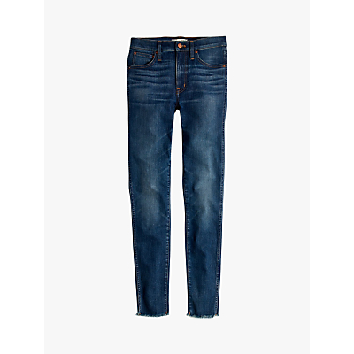 Madewell 9 High-Rise Raw Hem Skinny Jeans, Paloma Wash