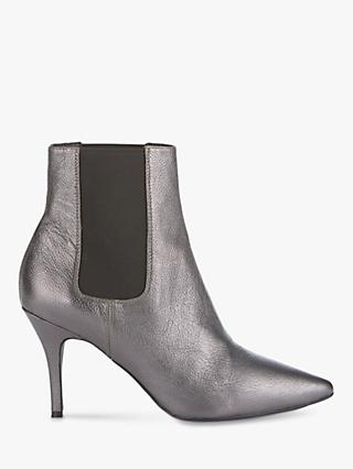 42b1161de82 Mint Velvet Zara Metallic Leather Stiletto Heel Ankle Boots