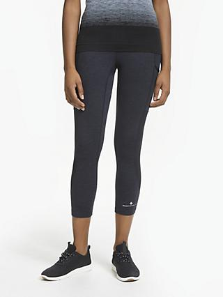 Ronhill Momentum Cropped Running Tights, Black
