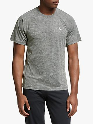 Ronhill Momentum Short Sleeve Running T-Shirt, Grey