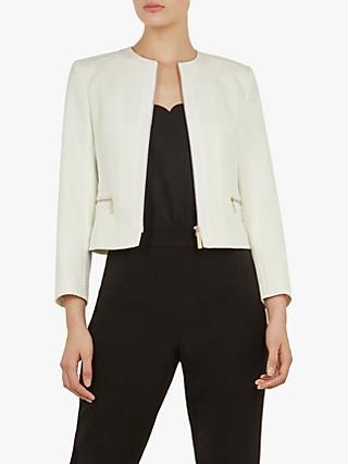 327044327 Ted Baker Taahra Cropped Tailored Jacket