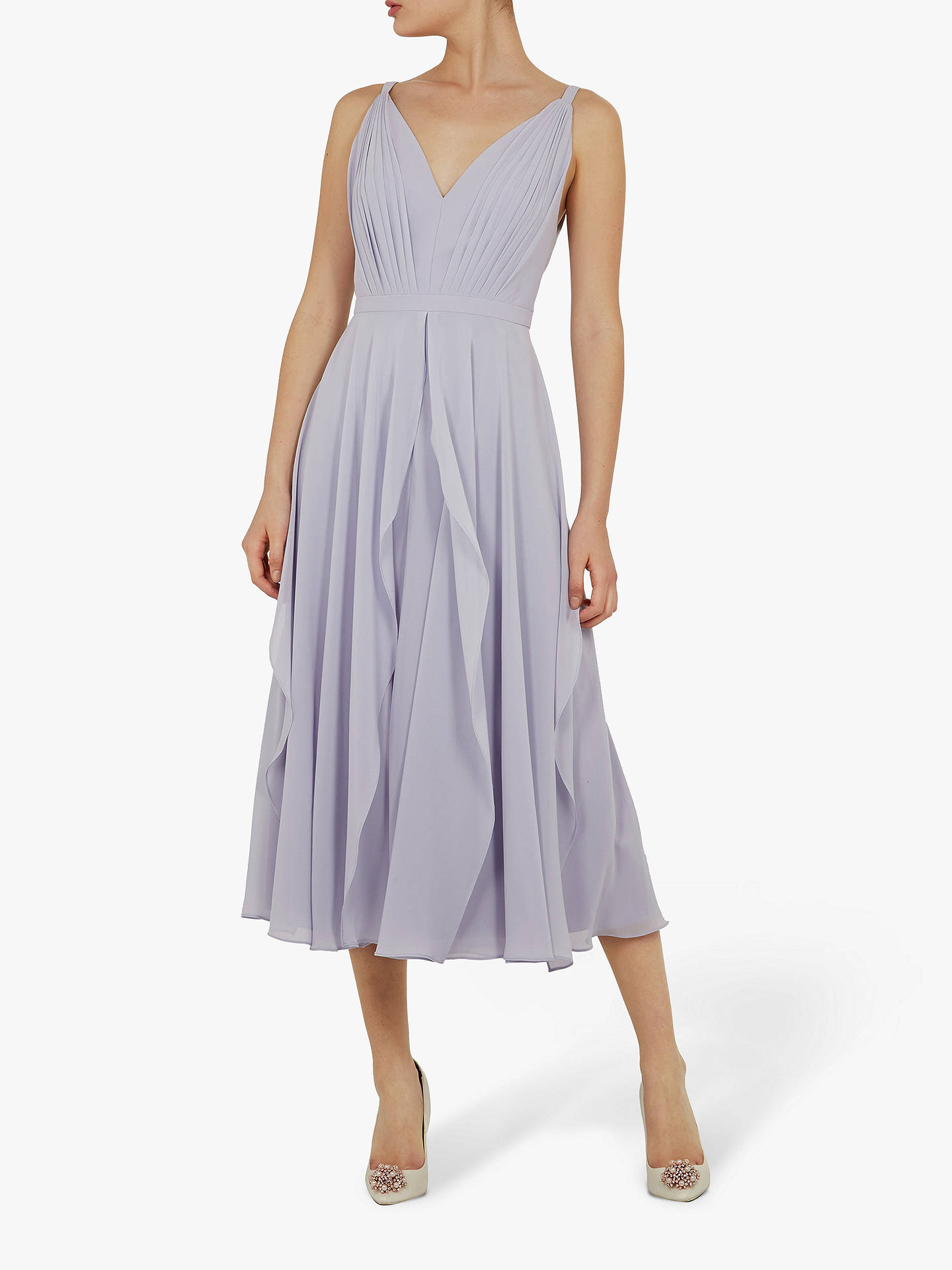 17af96f2d Ted Baker Celeyst V-Neck Georgette Midi Dress at John Lewis   Partners