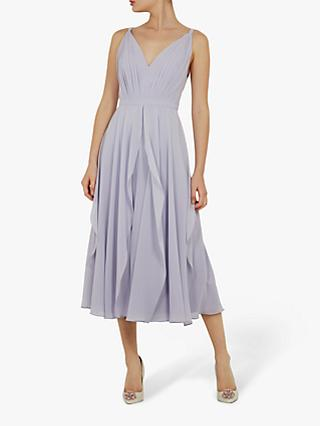 Ted Baker Celeyst V-Neck Georgette Midi Dress