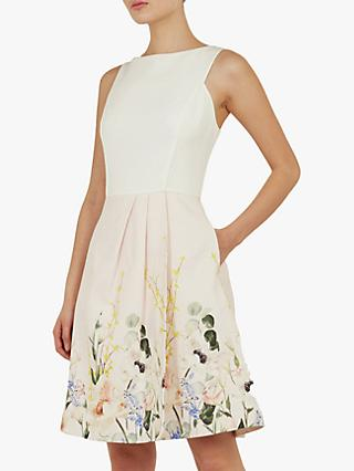 Ted Baker Kalla Full Skirt Dress, Pink/Nude