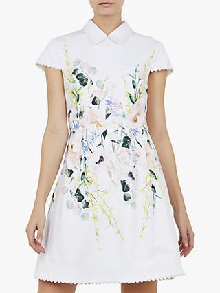 dba8af2b3c30d Ted Baker Charsy Floral Scallop Detail Ponte Dress