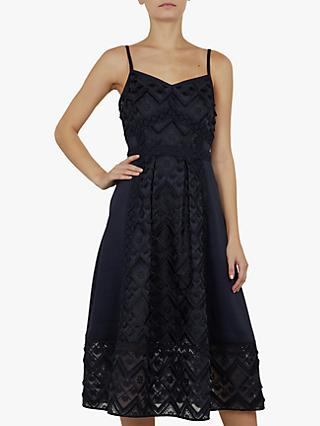 Ted Baker Leeeo Mixed Geo Lace Midi Dress