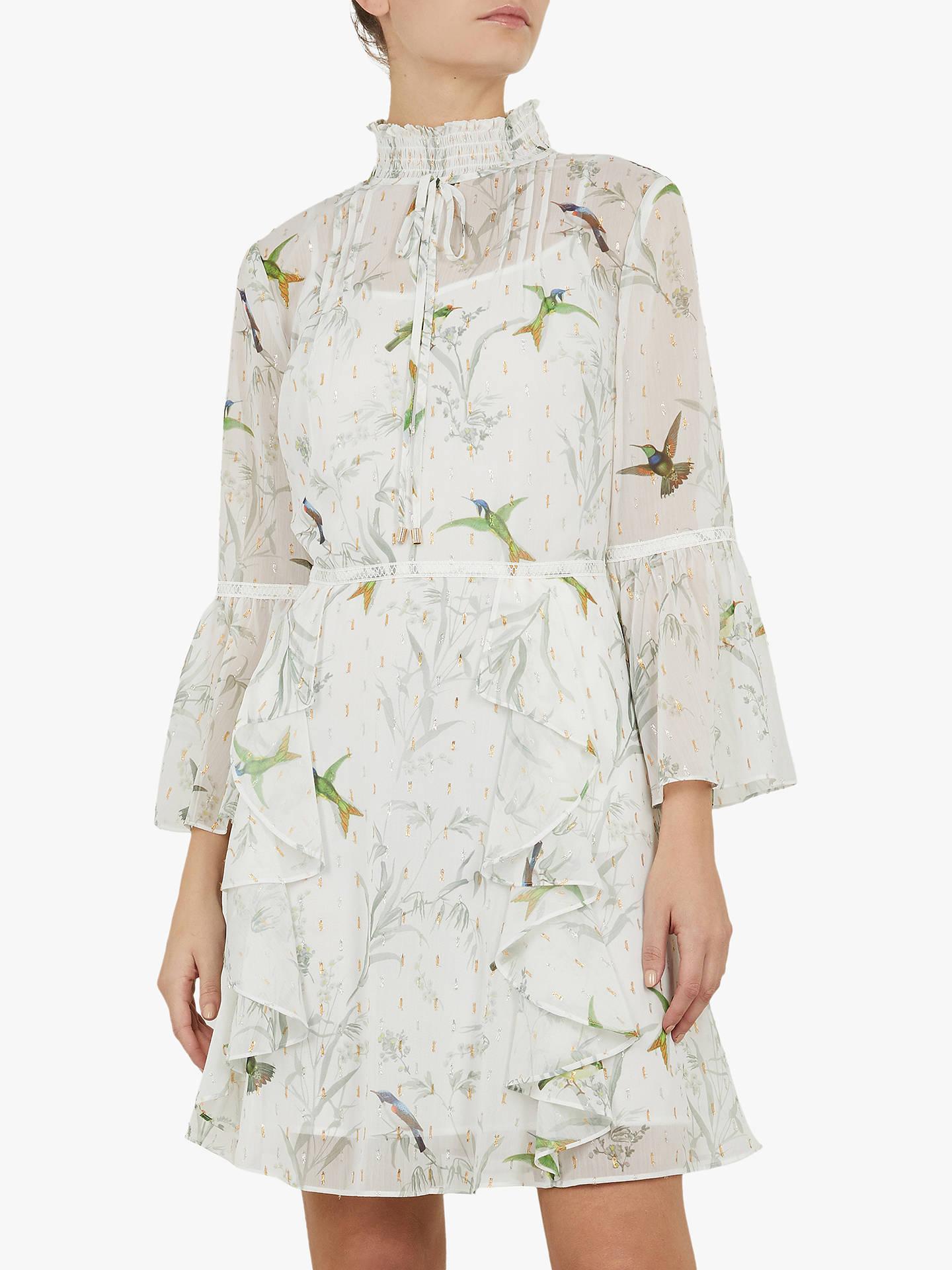d258f7ba6e6 Buy Ted Baker Andray Bird Print Ruffle Dress