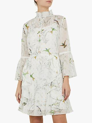 95a13ecdc78 Ted Baker Andray Bird Print Ruffle Dress