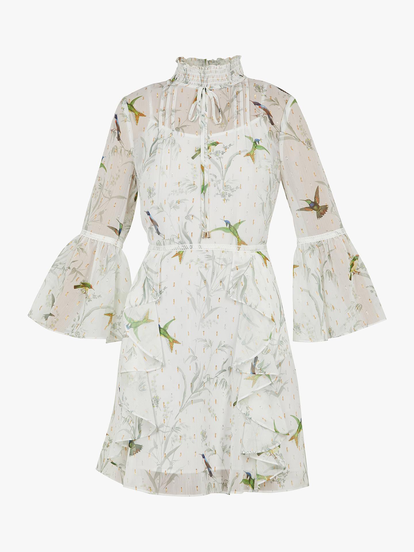 d0cd7186c47 ... Buy Ted Baker Andray Bird Print Ruffle Dress