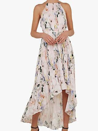 b486d7c622ad14 Ted Baker Valetia Dip Hem Floral Pleated Dress