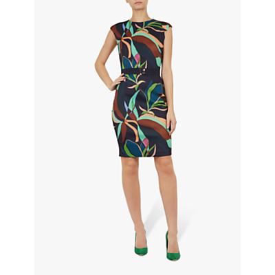 Image of Ted Baker Adilyyn Supernatural Structure Bodycon, Blue Navy/Multi