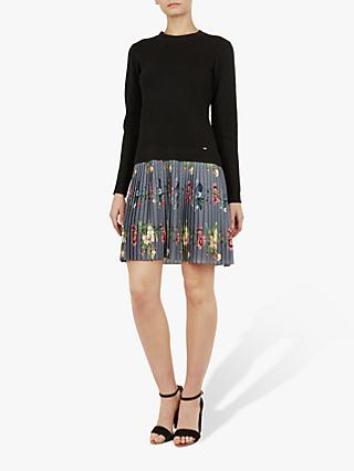 Ted Baker Izitaa Knitted Dress, Black/Multi