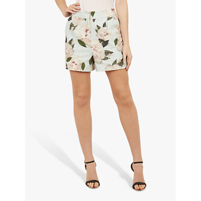 Ted Baker Noosam Floral Textured Shorts, Mint Green