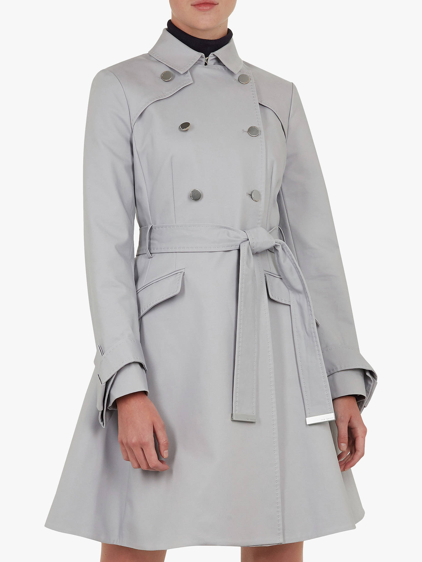 3c355db3bec53e Buy Ted Baker Marrian Knot Cuff Detail Trench Coat
