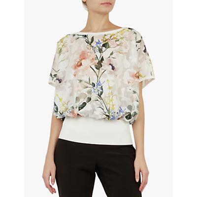Ted Baker Eltiee Floral Blouse, White/Multi