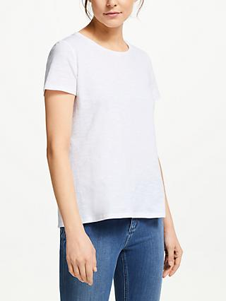 Boden Cotton Back Detail T-Shirt, White