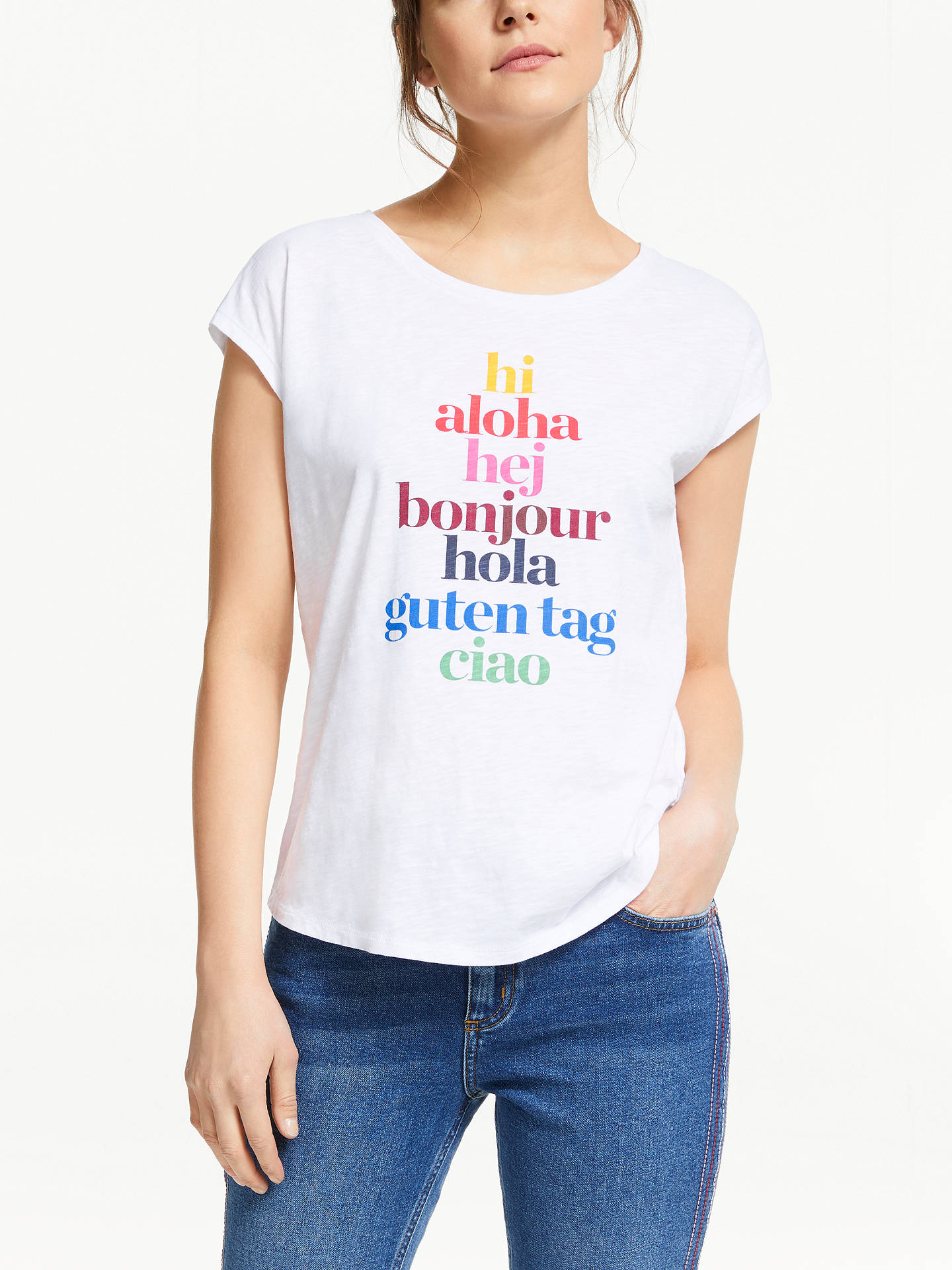 257d4194 Buy Boden Robyn Jersey T-Shirt, Multi, L Online at johnlewis.com ...