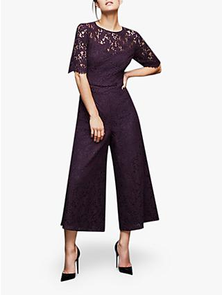 Coast Marty Lace Jumpsuit, Plum