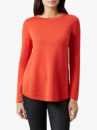 Hobbs Katy Knitted Sweater, Orange