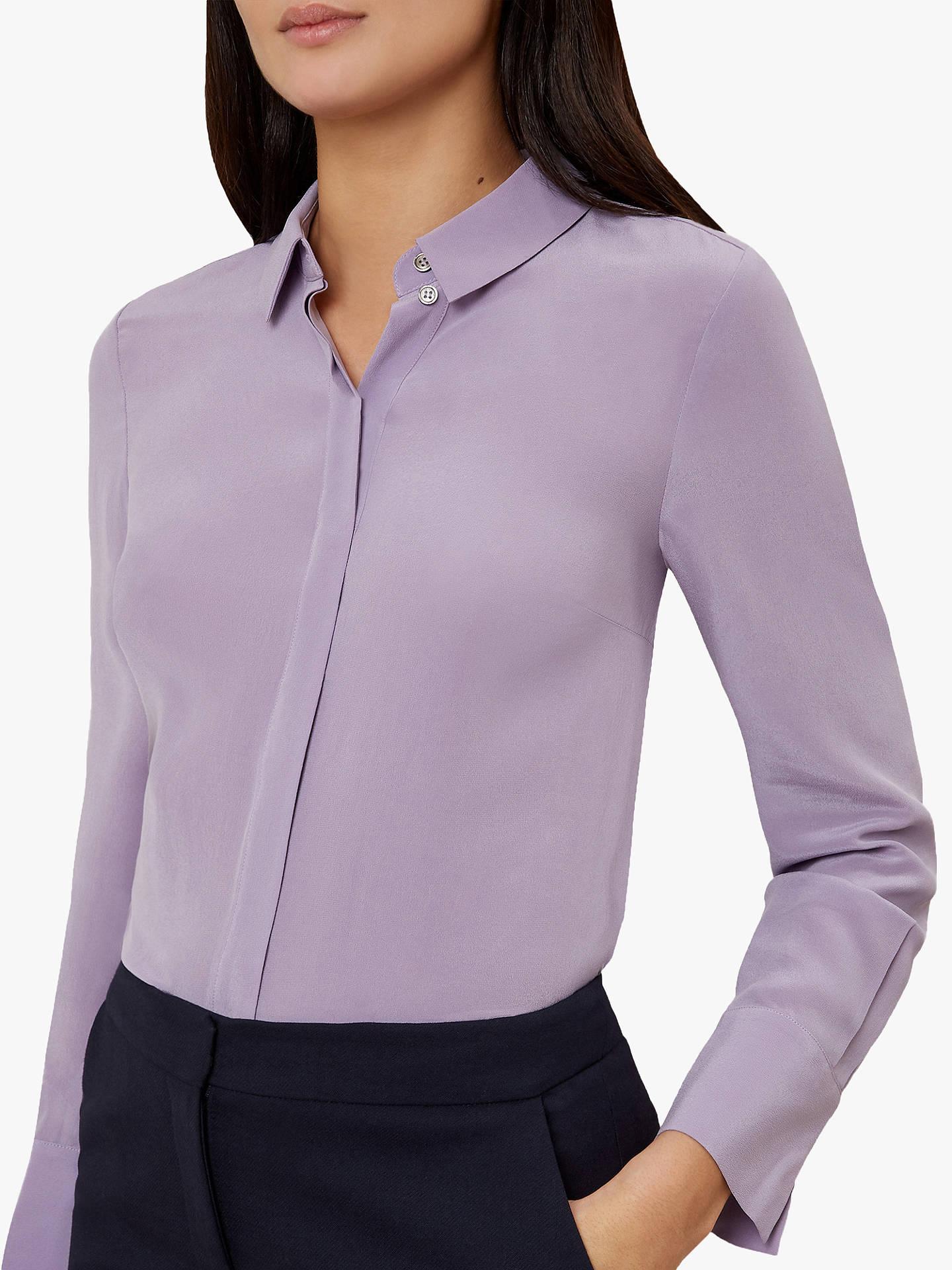 eaa7d825e0ba0e Offer  Hobbs Odette Silk Shirt at John Lewis   Partners