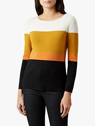 Hobbs Alice Colour Block Sweater, Black/Multi