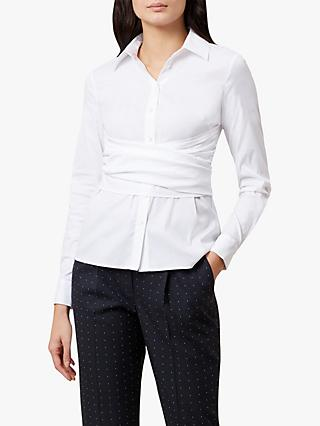 Hobbs Twitchill Wrap Long Sleeve Shirt, Ivory