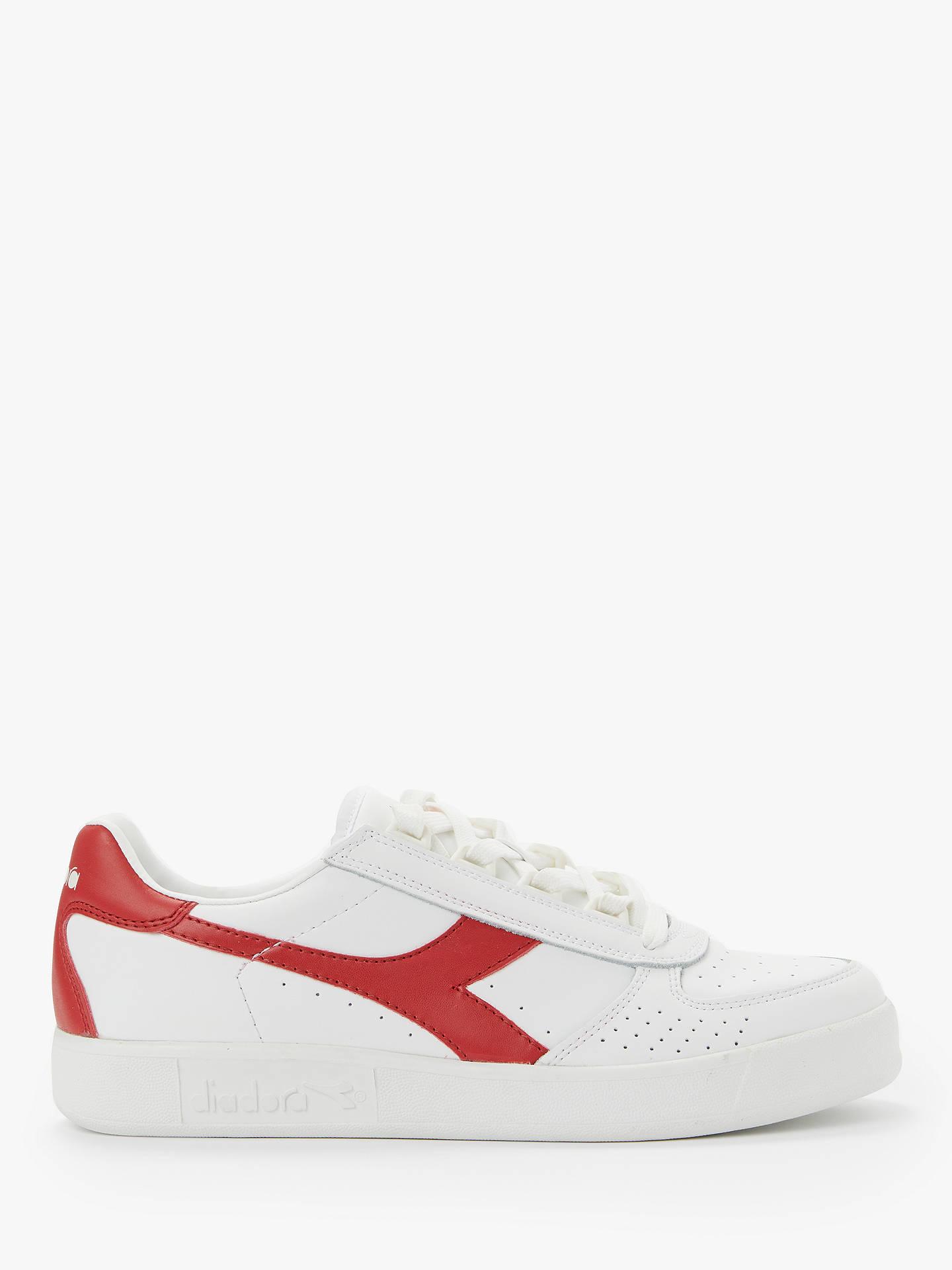 d805b8eb Diadora B.Elite Leather Trainers, White/Ferrari Red