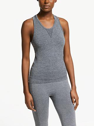 PATTERNITY + John Lewis Seam Free Textured Vest Top, Grey