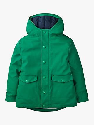 Mini Boden Boys' 3 in1 Waterproof Fisherman's Jacket, Green/Navy