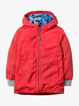 Mini Boden Boys' Shower Resistant Anorak, Red