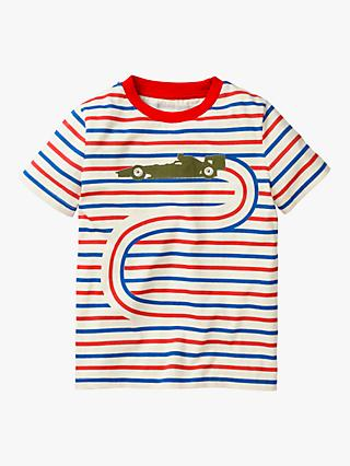Mini Boden Boys' Go-Faster Stripe T-Shirt, Multi
