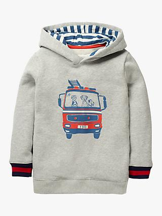 Mini Boden Boys' Fire Truck Hoodie, Grey