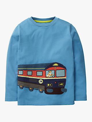 Mini Boden Boys' Superstitch Train T-Shirt, Blue