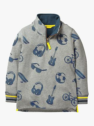 Mini Boden Boys' Sweatshirt, Grey