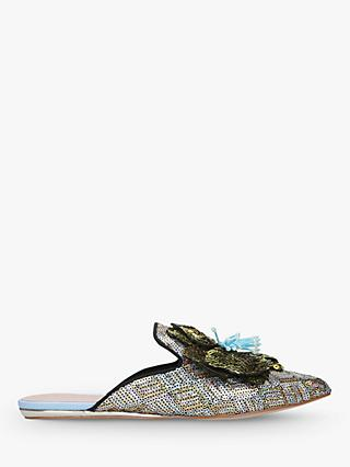 Kurt Geiger London Oaklee Sequin Embroidered Mules, Multi