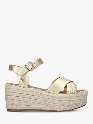 Kurt Geiger London Arlo Woven Wedge Leather Sandals