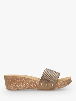 Carvela Comfort Sonic Jewelled Slide Sandals, Gold