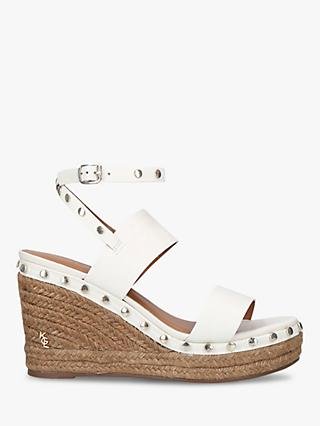 Kurt Geiger Alma Leather Studded Espadrille Wedge Sandals