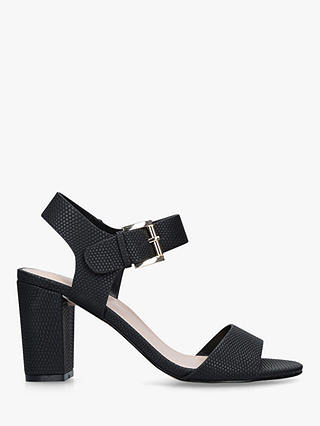 Buy Carvela Sadie Block Heel Sandals, Black, 5 Online at johnlewis.com