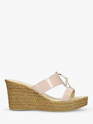 Carvela Comfort Stevie Wedge Heel Sandals, Nude Patent