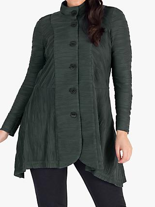 Chesca Jacquard Wave Crinkle Jersey Coat