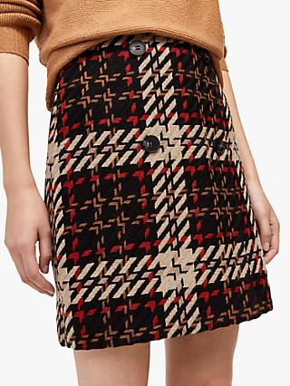 Warehouse Check Mini Skirt, Black/Multi